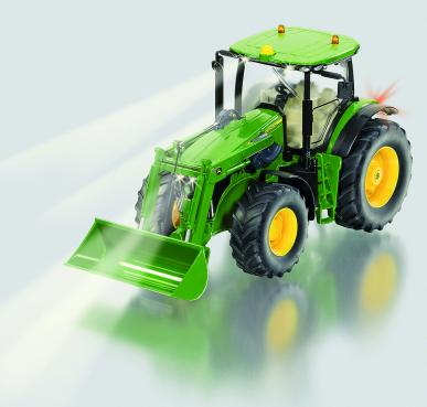 Tracteur télécommandé John Deere 7 R avec chargeur frontal Siku 1:32