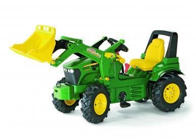 Tracteur à pédales John Deere 7930 + pneus souples + chargeur ROLLY TOYS