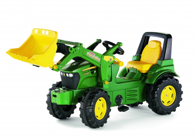 Tracteur à pédales John Deere 7930 FarmTrac + chargeur ROLLY TOYS