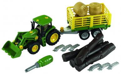 Tracteur John Deere avec remorque - Theo Klein