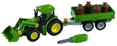 Tracteur John Deere avec remorque 1:24- Theo Klein