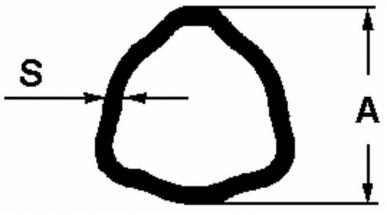 Joint de cardan complet Catégorie 8 adaptable BYPY 8.01 pour tube extérieur triangle