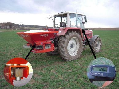 Waagenbausatz für Düngerstreuer, Wiegezelle Werkzeugstahl inkl. Wiegeanzeige B300