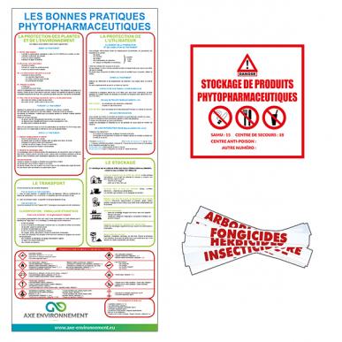 Kit signalétique phytosanitaire autocollant