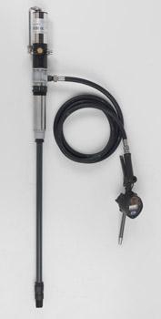 Kit travaso urea con pompa pneumatica inox - portata 15 l/min, tubo 3 m, pistola, contalitri, regolatore pressione, separatore condensa, ghiera fissaggio