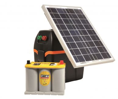 S220 - B200 Weidezaungerät + 20W Solarmodul + Optima 2,7l Akku