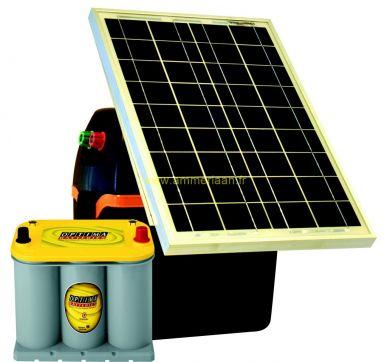 S230 - B200 Weidezaungerät + 30W Solarmodul + Optima 3,7l Akku