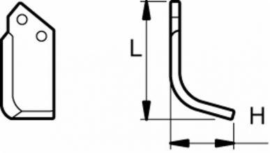 Gerades schraubenförmiges Blatt P-HL 9954 HOWARD anpassbar