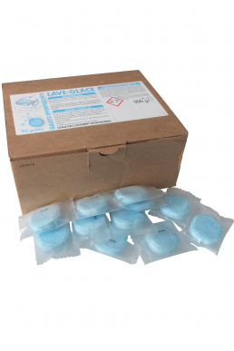 Lave glace pastilles effervescentes  Boite 50 Pastilles