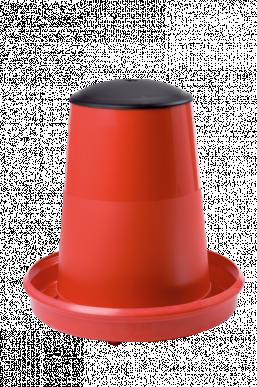"""Mangeoire pour volaille """"DELUXE"""" 12 kg avec couvercle (sans chapeau de pluie), pour utilisation intérieure"""