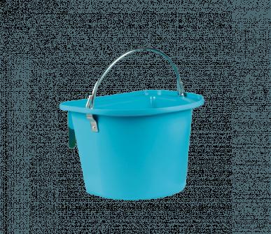 Mangeoire turquoise avec anse et crochets de suspension