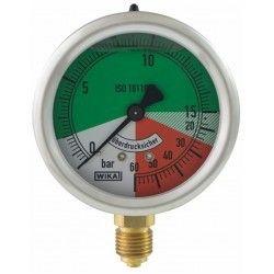 """Isometrisches Druckmessgerät im Glyzerinbad 0 - 15/60 bar - M 1/4"""""""
