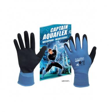 Manusweet Captain Aquaflex 6 paires de Gants de travail Imperméable Enduction Latex