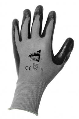 Manusweet Captain Mekanik 6 paires de Gants de travail Mécanique Fine Enduction Nitrile