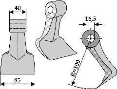 Marteau de broyage - M 37-16