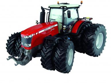 Tracteur Massey Ferguson 8740 avec roues jumelées 1:32