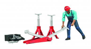 Mécanicien avec équipement atelier Bruder 1:16