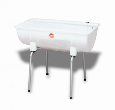 Milchkannen-Standspüle, Fassungsvermögen 100 l  - mefro