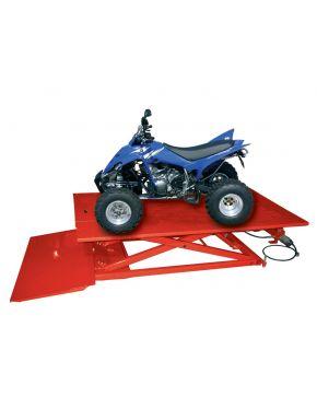 Pont moto ATV pneumatique / hydraulique 685 kg - 120 cm pr tondeuse/quad