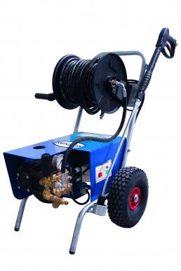 Nettoyeur haute pression eau froide MINI COMPACT 150 bars 21 L/min KIT ENROULEUR ET TURBOBUSE