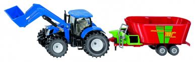 Tracteur New Holland avec Strautmann Verti-mix 1:50