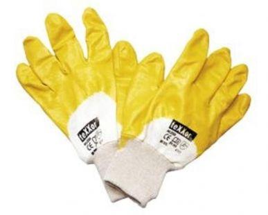 Nitril-Handschuh,gelb m. Strickbund