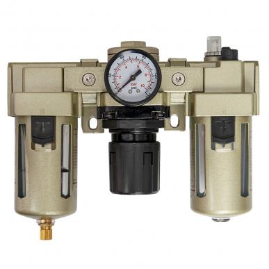 Filtre régulateur lubrificateur 3 blocs avec manomètre et fixation 1/2
