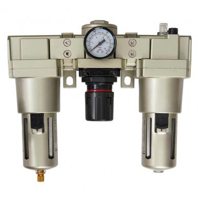 Filtre régulateur lubrificateur 3 blocs avec manomètre et fixation 3/4