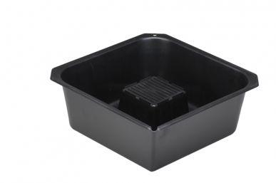 Bac de vidange d'huile 9 L, noir, 350x350x135 mm - Paquet de 10 unités