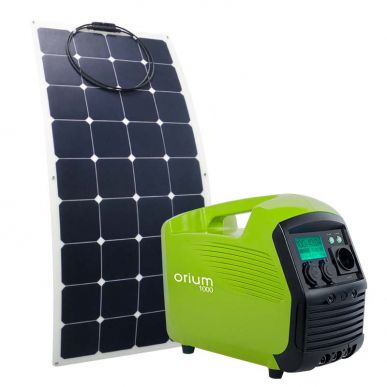 Pack Station d'énergie IZYWATT 1000Wh + Panneau solaire souple 120W Sunpower