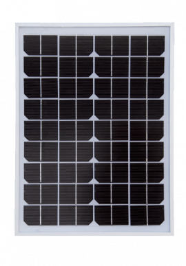Panneau solaire, 10 watt, monocristallin, à l'unité