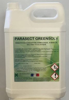 PARASECT GREENSOLV - INSECTICIDE CONCENTRE HOMOLOGUE. A BASE DE SOLVANT ECOLOGIQUE