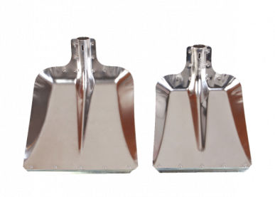 Pelle meunier aluminium avec rebord en acier
