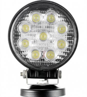 Phare de travail LED rond 27W