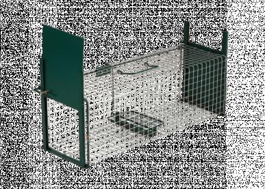 Piège à deux entrées pour renardeaux, raton laveur, blaireaux, 130x36x47cm