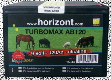 Pile alcaline 9V / 120Ah TURBOMAX AB120, boîtier petit format