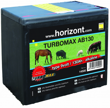 Pile alcaline 9V/130 Ah Turbomax AB130