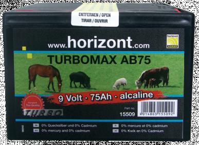 Pile alcaline 9V / 75Ah TURBOMAX AB75 (boîtier petit format)
