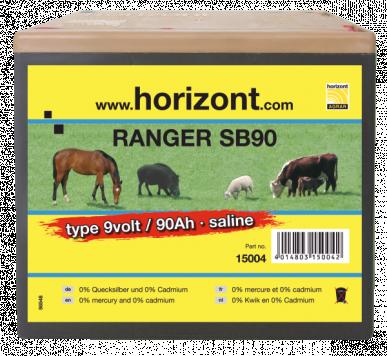 Pile saline 9V / 90Ah RANGER SB90 boîtier grand format