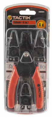 Pince circlips Tactix 150 mm a becs interchangeables