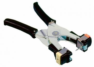 Pince marque oreille avec insert bleu pour boucle Allflex