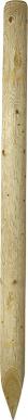 Piquet en bois, 2,50 m, traité autoclave pelé, appointé, chanfreiné, d= 16-18 cm