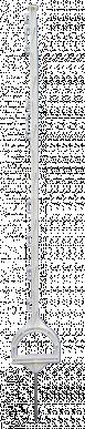 """Piquet plastique """"étrier"""", avec 10 passe-fils, longueur 115cm"""