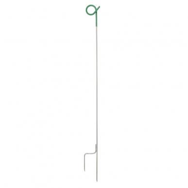 Piquet queue de cochon 1,00m blanc/vert (10)