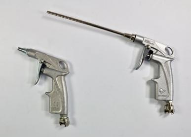 """Druckluft-Aufblaspistole, vernickeltes Aluminiumgehäuse - 1/4"""" BSP-Anschluss"""
