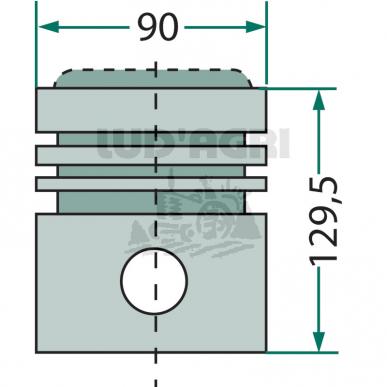 Piston complet Ø 90 mm Hanomag Hanomag