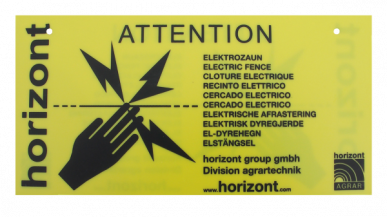 Plaque d'avertissement internationale, en vrac, sans attaches, personnalisables (pour un minimum de 400 pièces), à l'unité