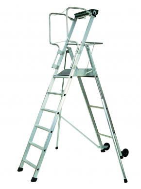 Plateforme individuelle roulante PL A hauteur fixe - Avec stabilisateur - 6 marches