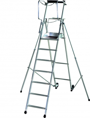 Plateforme individuelle roulante PL A hauteur fixe - Avec stabilisateur -7 marches