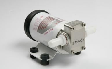 Pompe à engrenages électrique 12 Vcc, auto-amorçante en acier inoxydable